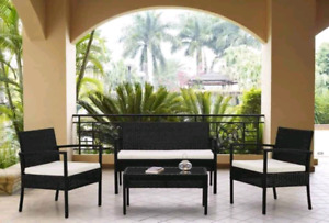 4 piece wicker conversation set(brand new)