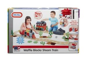 Little tikes waffles blocks steam train set