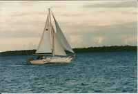 Classic Sailboat as clean as a whistle; 32 foot Bayfield