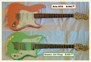 Two electric guitars for sale
