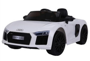 Licensed 12V Audi R8 Child Ride-On Car with Leather Seat, Remote