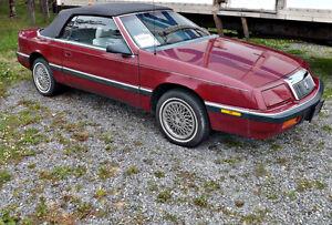 1990 Chrysler convertible also Cobra wheels & tires