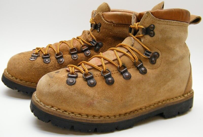 25a653caaef Details about MENS VINTAGE ITALY TAN BROWN SUEDE LEATHER MOUNTAINEERING  BOOTS SZ 6.5~1/2 D