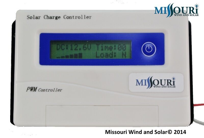 30 Amp 12 24 Volt Auto Detect Pwm Digital Solar Panel
