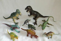 TOY DINOSAURES and OTHER REPETILES - 9 IN TOTAL