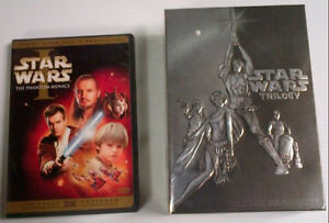 4 DVD Collectors set STAR WARS  and Phantom Menace
