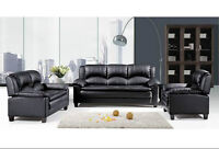 $1500 Only- Genuine Leather Sofa Set ! Crazy SALE !!!