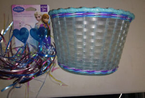 Bicycle Basket and Streamers - Brand New