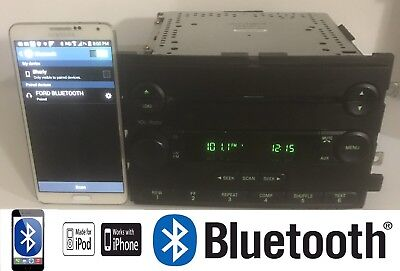 04 05 06 FORD F150 Truck Fusion Mustang Radio 6CD BLUETOOTH CAPABLE OEM -
