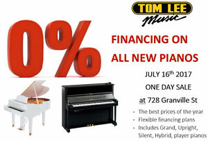 0% financing ON ALL NEW PIANOS
