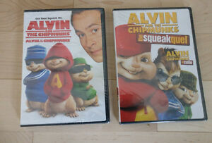 2 NEW Alvin and the Chipmunks DVDs $ 3 ea or both for $ 5