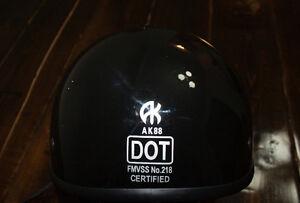 Black Beanie Style Motorcycle Helmet - Size XXL
