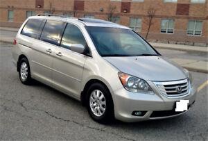 2008 Honda Odyssey EX-L Minivan, Van $8400 DVD 8 SEAT 136227KM !