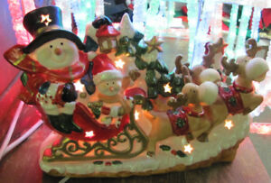 Ceramic Lighted Christmas Tabletop Display