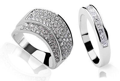Diamond pavé cocktail ring & channel set modern ring