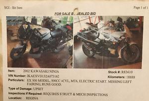 Kawasaki Ninja 500R -- some assembly required