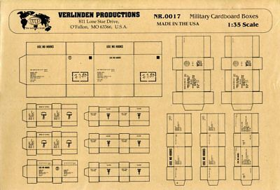 Verlinden Productions 1:35 US and German Military Cardboard Boxes WWII #0017, used for sale  Wentzville