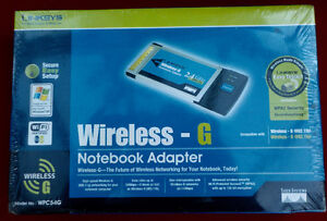 New Linksys WPC54G Wireless-G Laptop Notebook Adapter