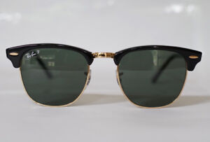 Ray-Ban Clubmaster Classic Black Polarized Sunglasses RB3016/51