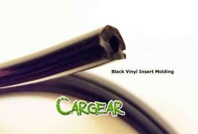 Black Rubber Insert Trim for Aluminum Rivet On Car Body Side Door Molding 15FEET Aluminum Body Side Molding