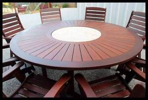 OUTDOOR FURNITURE SALE! - Quality 9 PCE Kwila dining setting Arana Hills Brisbane North West Preview