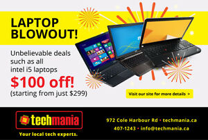 Laptop BLOWOUT Sale - $100 Off ANY i5 Laptop