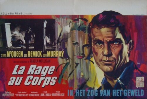 BABY THE RAIN MUST FALL Belgian movie poster STEVE McQUEEN LEE REMMICK 1964 RAY