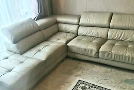 Faux Leather L shape Sofa