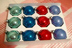 Ensemble de 12 boules de Noël en verre # N574