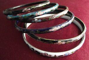 lot 6 bracelets émail ou à l'unité