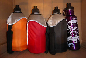 Water bottles $2 ea, lunchbag with container, Tim Hortons cup $3