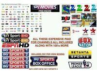 12 Months Full Gift V8s F3 F5 Skybox Openbox Ibox Zgemma vu technomate
