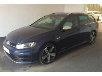 2016 BLUE VW GOLF R 2.0 TSI 300 4X4 DSG PETROL 5DR ESTATE CAR FINANCE FR £88 PW