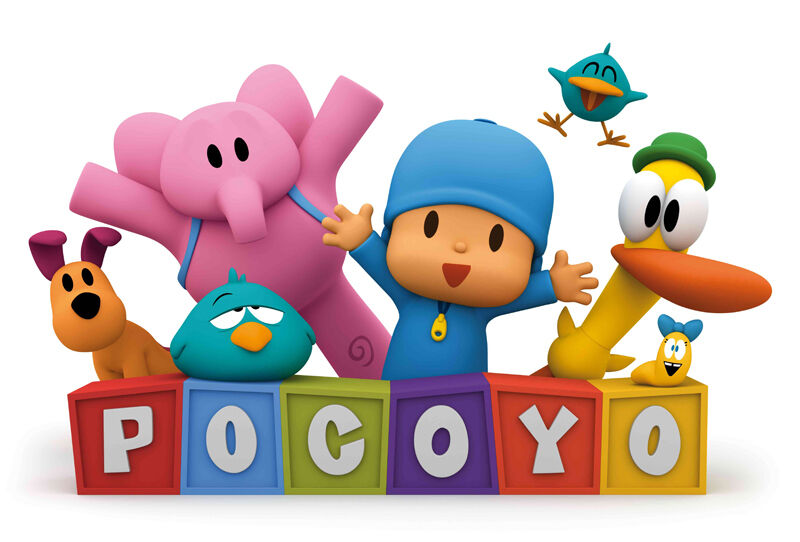 """Pocoyo Iron On Transfer 4.5"""" x 7"""" for LIGHT Colored Fabric"""