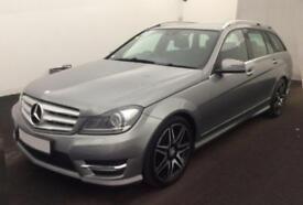 2012 SILVER MERCEDES C250 2.1 CDI AMG SPORT PLUS ESTATE CAR FINANCE FR £37 PW