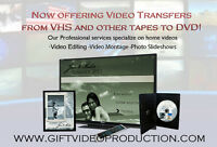 Photo and video editing services - Specializing on home videos