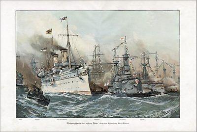 DEUTSCHES REICH WILLY STÖWER Manövergeschwader der deutschen Flotte FAKSIMILE 36