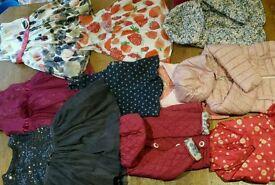 Girls dresses and coats m&s next 12- 18 1-2