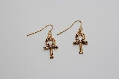 Egyptian Ankh Key of Life Earrings Set. Ancient Egypt Fashion Jewelry Accessory