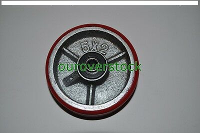 5 X 2 Polyurethane On Cast Iron Wheel For Casters Or Equipment