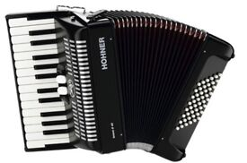 New Hohner Bravo II 48 bass accordion for sale.