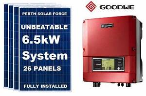 Solar Power 6.5kW Solar Panel System ~$3,699 Installed -26 Panels Ellenbrook Swan Area Preview