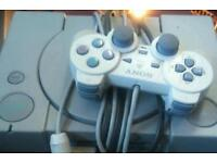 Playstation one with controller