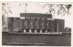 POSTCARD OF THE FRONT SHAKESPEARE MEMORIAL THEATRE STRATFORD ON AVON UNPOSTED.