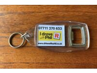 BOTTLE OPENER KEY CHAIN PHOTO PICTURE ADVERTISING KEYRING