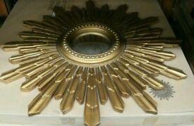 Sunburst designer convex mirror - Bargain
