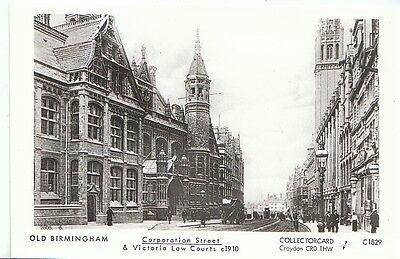 Warwickshire Postcard - Old Birmingham - Corporation Street & Law Courts   U678