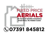 Digital tv aerial & sky installation/ repair Glasgow Clydebank Dumbartonshire fixed price £80