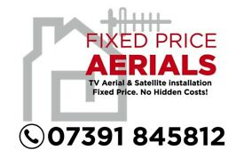 Aerial installers sky repair tv wall mounting glasgow west end