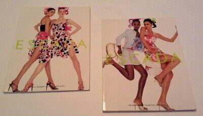 Escada Two Look Book Set Spring Summer 2004 Books 1 and 2 Designer (Fashion Designer Lookbook)